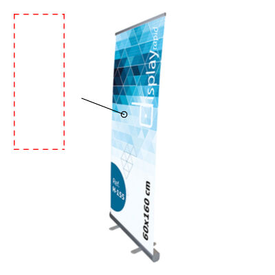 ROLL UP 60x160 CM ALUMINIO-PVC