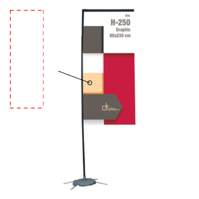 BANDERA RECTANGULAR 2 M
